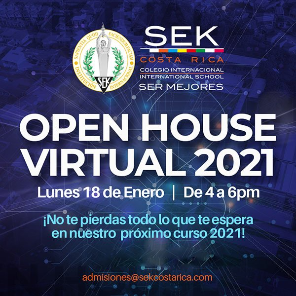 Open House Virtual 2021 - Lunes 18 Enero